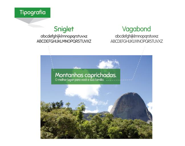 Montanhas Capixabas - Tipografia
